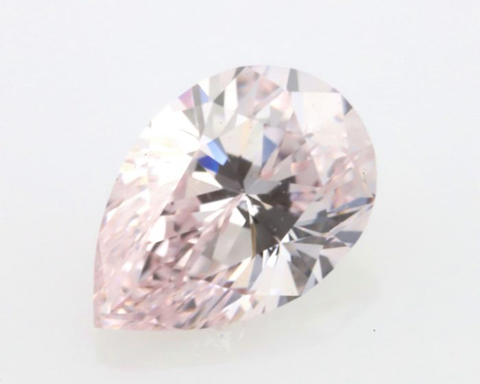 0.20 light pink ps vvs136 700x559 - 0.20ct Pink Diamond - Natural Loose Light Pink Fancy Color GIA VVS1 Pear Shape