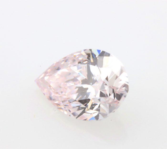 0.20 light pink ps vvs16 700x626 - 0.20ct Pink Diamond - Natural Loose Light Pink Fancy Color GIA VVS1 Pear Shape