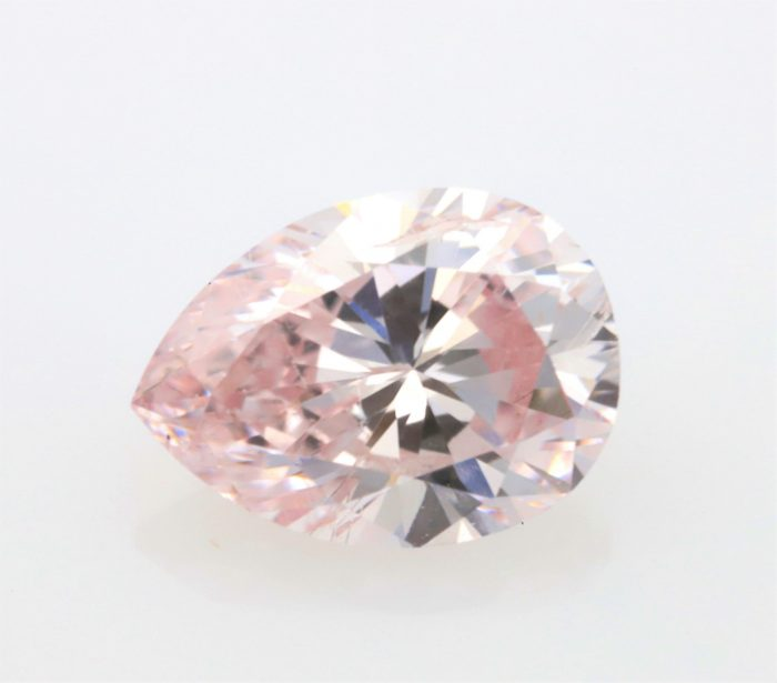 0.28 fancy pink ps2 700x615 - Pink Diamond – Natural Loose Fancy Pink GIA Certified 0.28ct Pear Cut SI1 Argyle