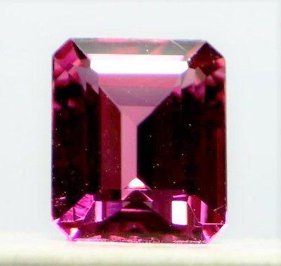 1 6 4 - 2.99ct Natural Loose Purplish Pink Tourmaline GIA Octagonal Emerald VS1 No Heat