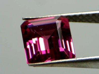1 6 5 - 2.99ct Natural Loose Purplish Pink Tourmaline GIA Octagonal Emerald VS1 No Heat