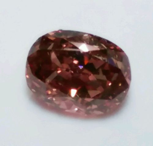 0.22ct Pink diamond - Natural Loose Fancy Deep Orangy Pink GIA Diamond Oval VS1
