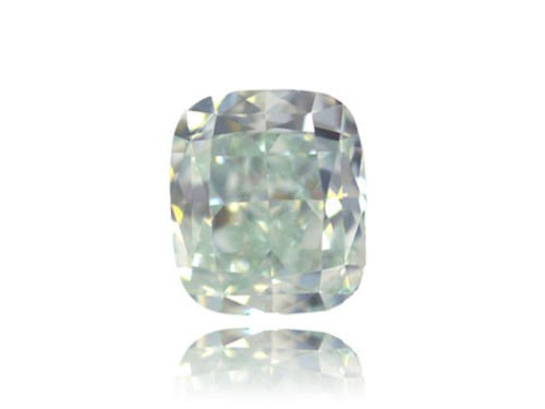 Green Diamond - 0.51ct Natural Loose Fancy Light Yellow Green Color GIA VS2