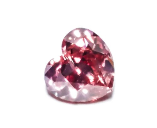 12 156 - 0.25ct Pink Diamond - Natural Loose Fancy Deep Pink GIA Certified Heart SI2