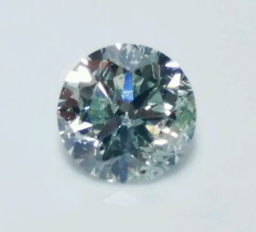 12 161 1 - 0.31 ct Natural Loose Fancy Light Green Diamond GIA Certified Round Cut SI2