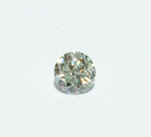 12 161 3 - 0.31 ct Natural Loose Fancy Light Green Diamond GIA Certified Round Cut SI2