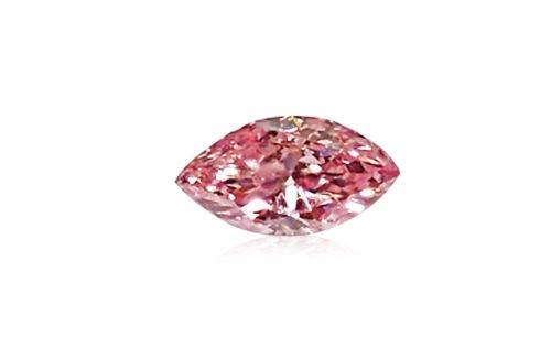 12 163 - Pink Diamond - 0.06ct Natural Loose Fancy Intense Purple Pink GIA Cert Marquise