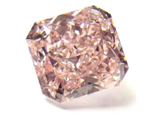 12 30 - 0.20ct Pink Diamond - Natural Loose Fancy Orangy Pink Color GIA Radiant SI1