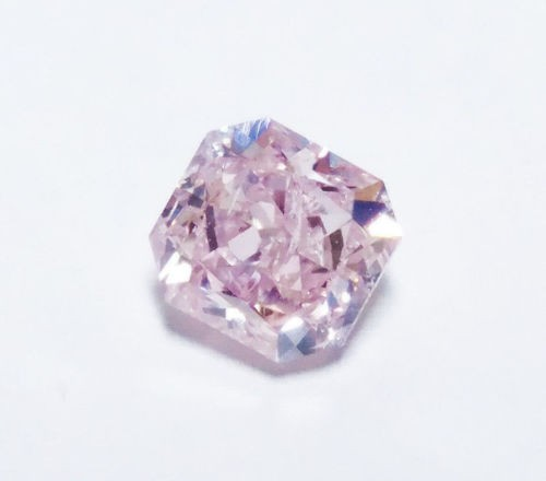 12 41 1 - 0.68ct Natural Loose Fancy Light Pink Color Diamond GIA Certified Radiant SI2