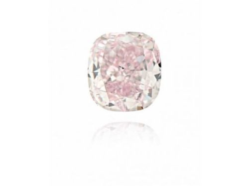 12 77 - Pink Diamond - 0.04CT Natural Loose Fancy Pink Diamond GIA Certified Cushion VS1