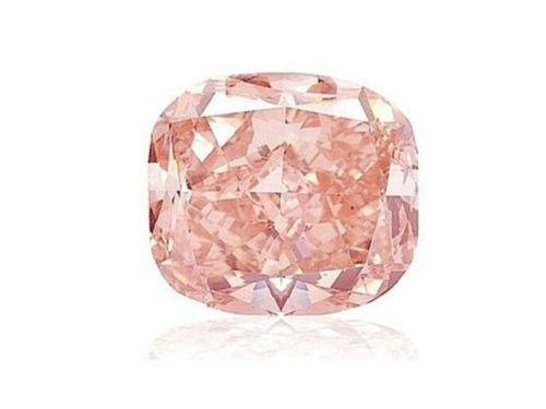 12 - Pink Diamond - 0.31ct Natural Loose Fancy Orangy Pink Color Diamond GIA Cushion