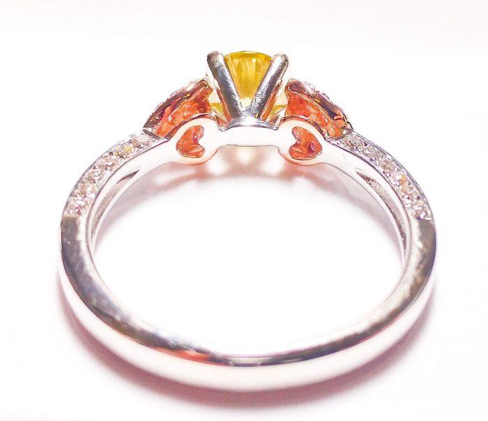 57 104 6 700x605 - Real Engagement Ring 1.15ct Natural Fancy Intense Yellow & Pink GIA 18K Gold