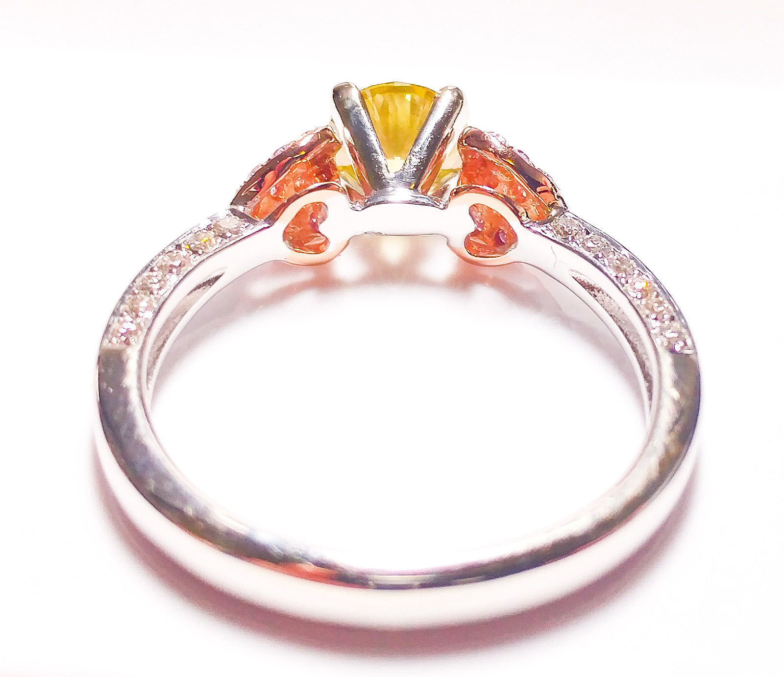 loves amber engagement rings solitaire penny products tone ring diamond two mens s jewellery men