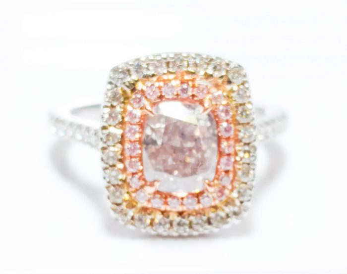 57 12 6 700x554 - 1.70 CT Fancy Pink Diamond Engagement Ring GIA Cushion Hallo 18K White Gold SI2