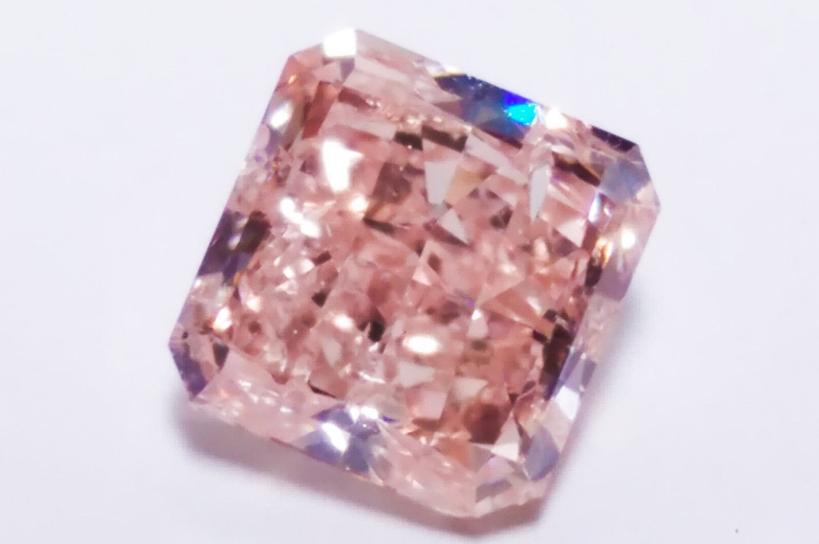 1.01ct Pink Diamond - Natural Loose Fancy Orangy Pink GIA Certified Radiant SI2
