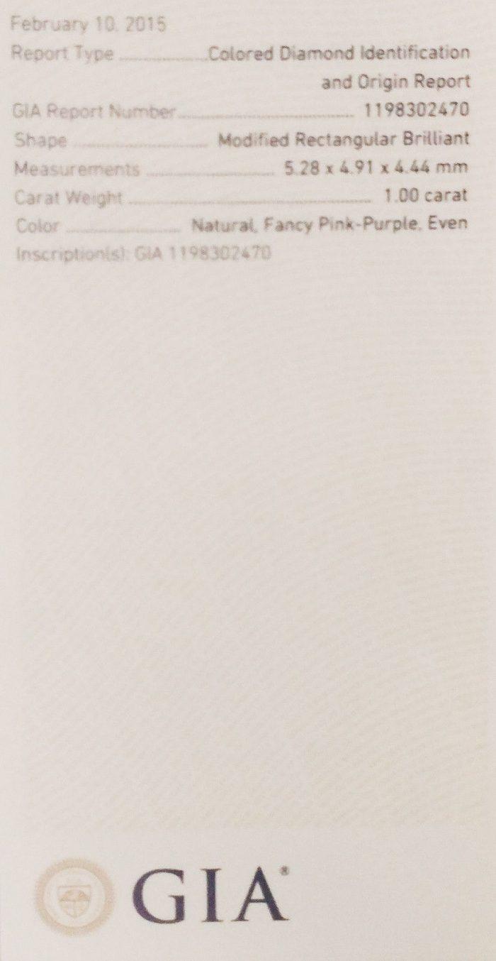 57 22 2 700x1354 - Pink Diamond – 1.00ct Natural Loose Fancy Pink Purple GIA Certified Cushion