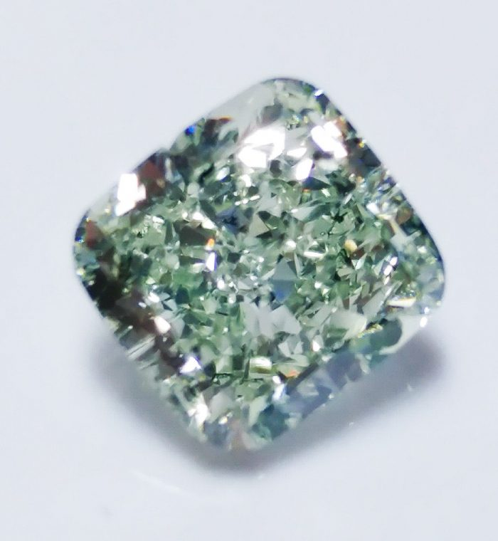 57 25 1 700x760 - Green Diamond - 1.01ct Natural Loose Fancy Light Green Color Diamond GIA Cushion