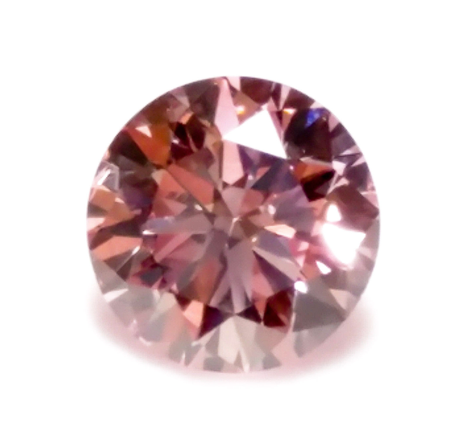 Pink Diamond - 0.21ct ARGYLE Natural Loose Fancy Pink Color GIA Round VS2 Real