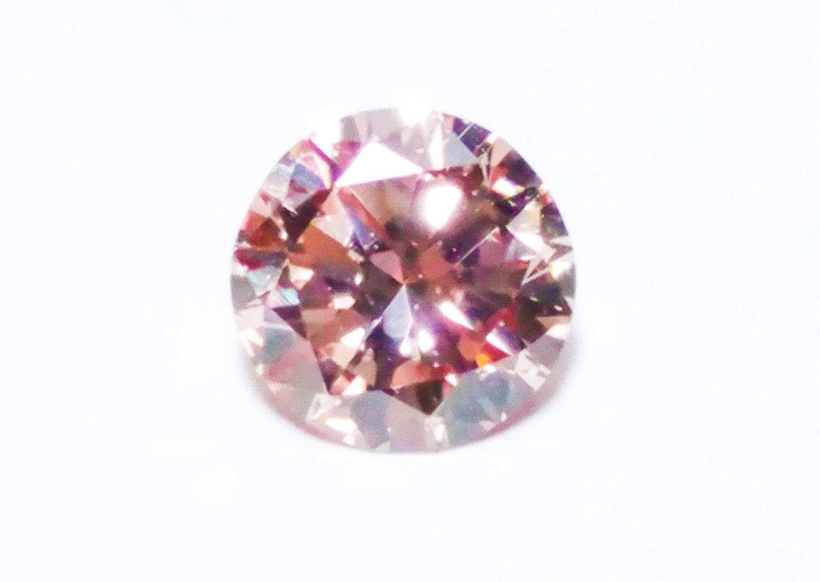 0.22ct Pink Diamond - Natural Loose Fancy Orangy Pink ARGYLE Cert GIA Round SI1