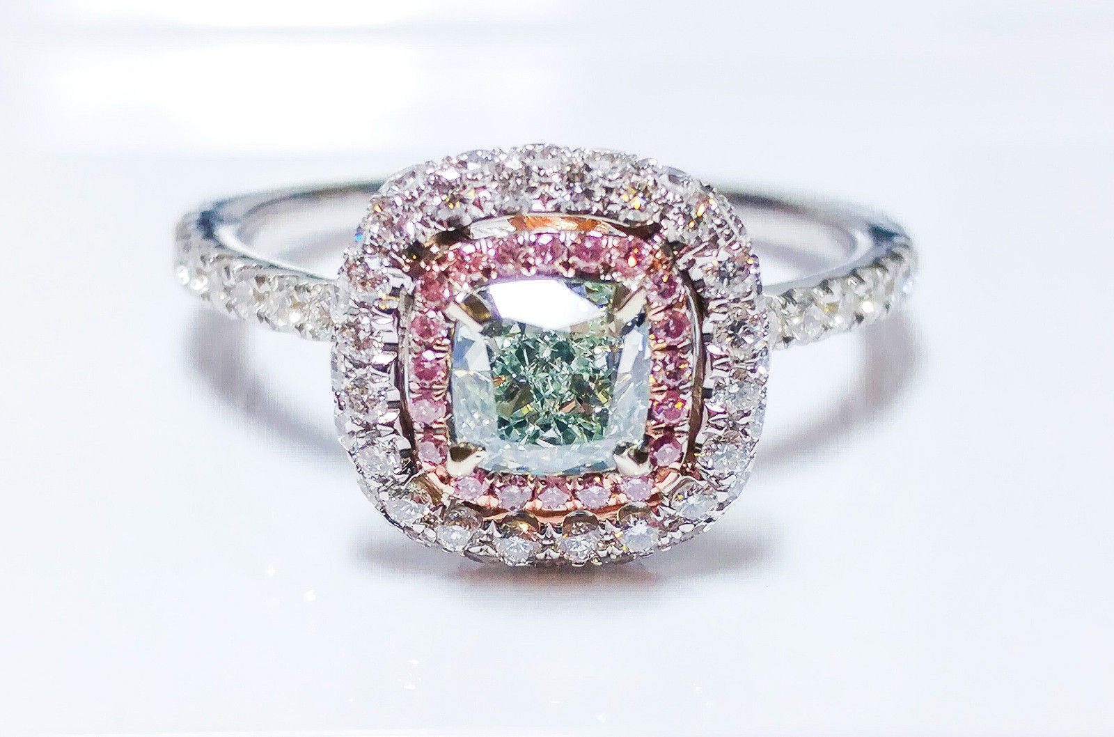 diamond fancy carat au shape green sku cushion yellowish light gia diamonds clarity d