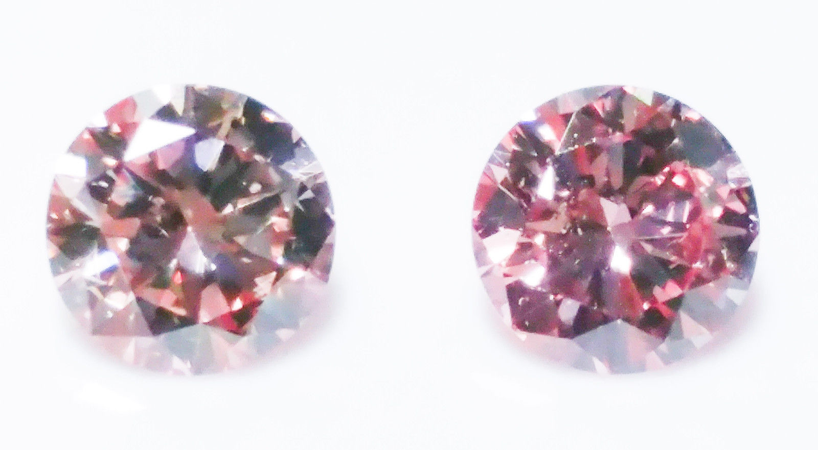 0.44ct Natural Loose Matching Pair Argyle Fancy Orangy Pink Color Diamond GIA