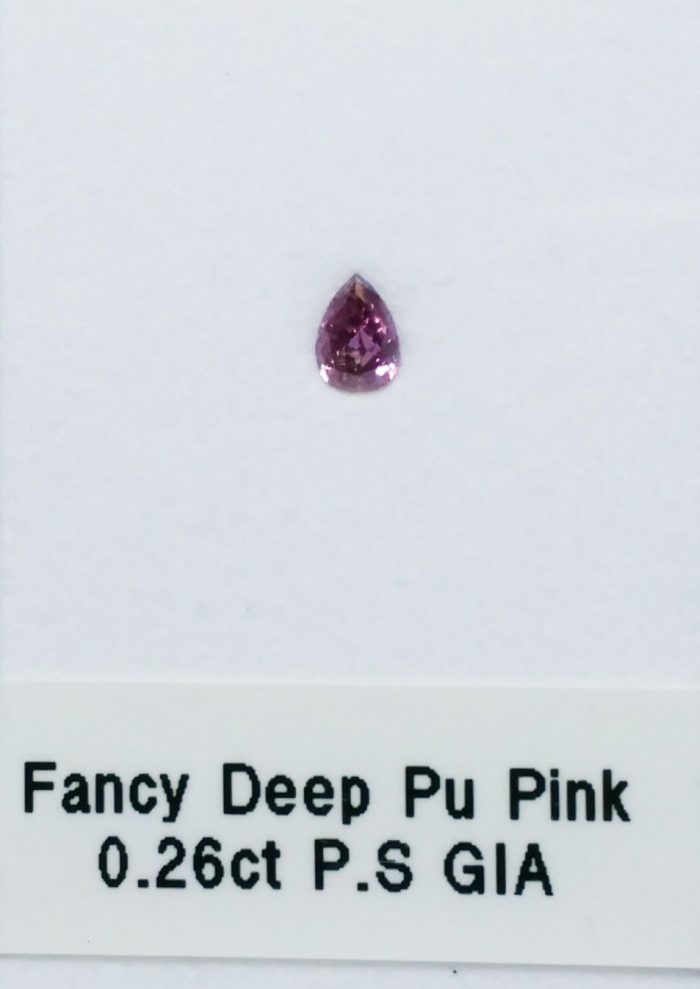 57 65 3 700x989 - 0.26ct Pink Diamond - Natural Loose Fancy Deep Purple Pink GIA Certified Pear