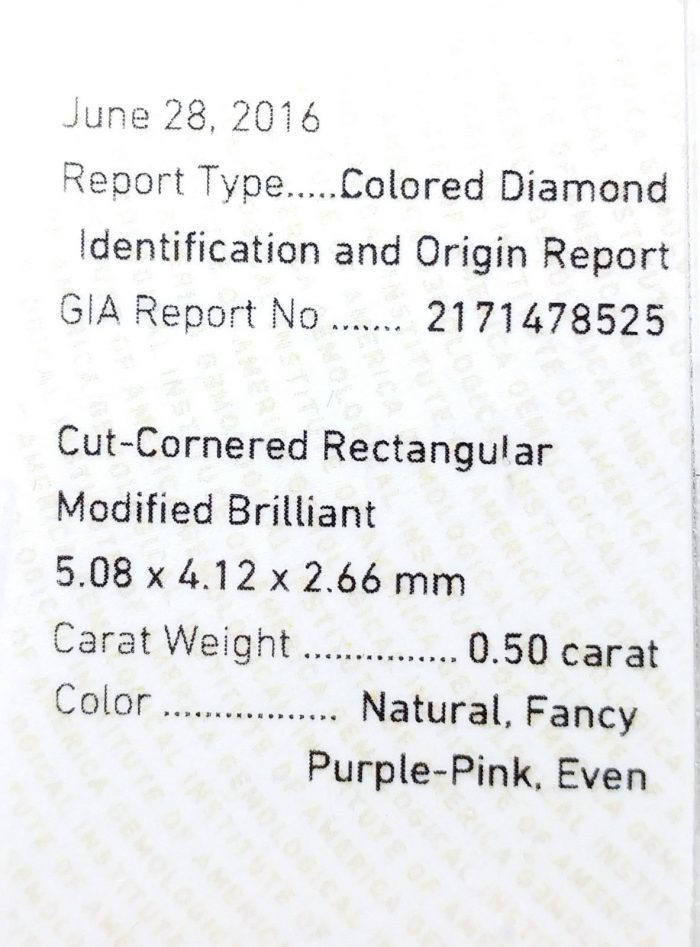57 90 3 700x947 - 0.50ct Natural Loose Fancy Purple Pink Color Diamond GIA Certified Radiant SI2