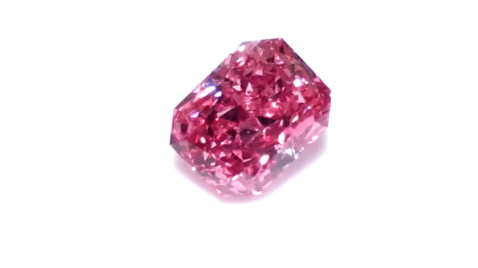 0.17ct Natural Loose Fancy Vivid Purplish Pink Color Diamond GIA SI1 Radiant