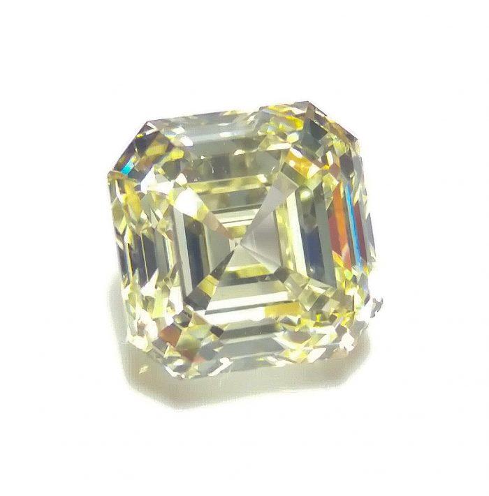 57 3 1 700x711 - Yellow Diamond - VS1 2.02ct Natural Loose Fancy Light Yellow Asscher Cut Emerald
