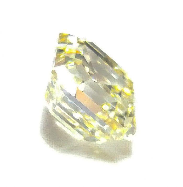 57 3 2 700x714 - Yellow Diamond - VS1 2.02ct Natural Loose Fancy Light Yellow Asscher Cut Emerald