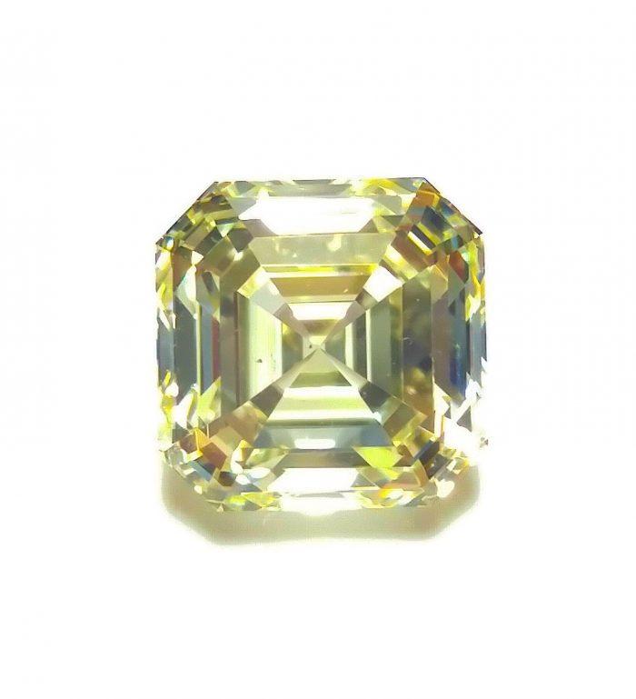 57 3 3 700x769 - Yellow Diamond - VS1 2.02ct Natural Loose Fancy Light Yellow Asscher Cut Emerald