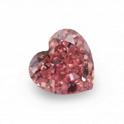 1 4 1 - Real 0.52ct Pink Diamond - Natural Loose Fancy Deep Pink GIA Certified Heart