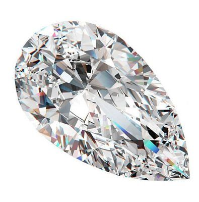 1 4 - Real 1.03ct White Diamond - Natural Loose F Color I1Clarity GIA Certified pear
