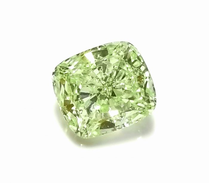 57 233 700x612 - 1.33ct Green Diamond - Natural Loose Fancy Yellowish Green Color GIA Cushion SI1