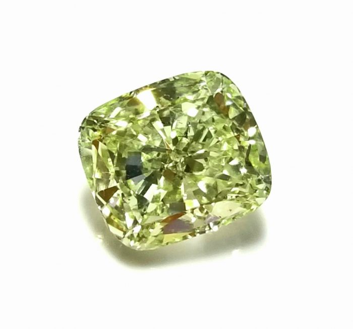 57 234 2 700x651 - 1.33ct Green Diamond - Natural Loose Fancy Yellowish Green Color GIA Cushion SI1