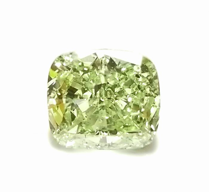 57 234 3 700x643 - 1.33ct Green Diamond - Natural Loose Fancy Yellowish Green Color GIA Cushion SI1