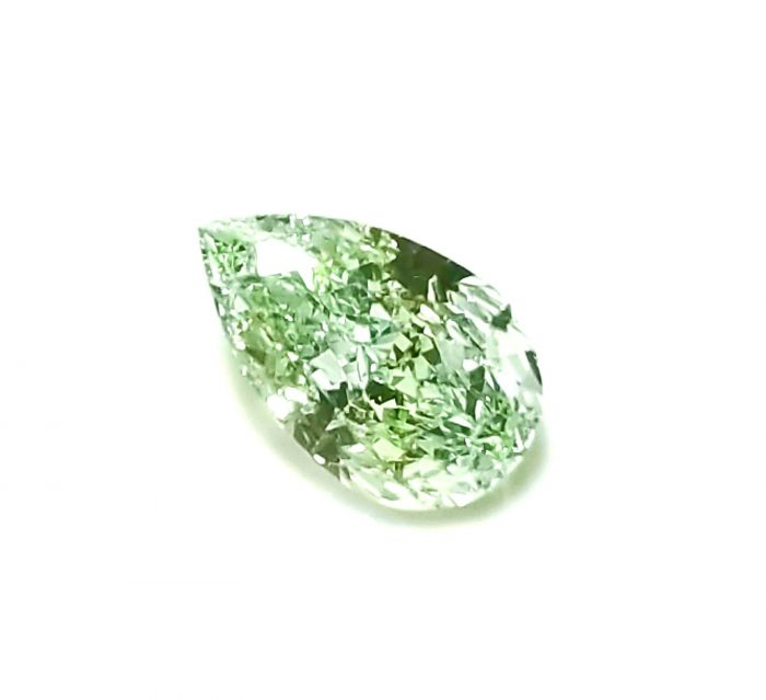 57 236 1 700x639 - 0.42ct Green Diamond - Natural Loose Fancy Light Green Color GIA Pear Shape SI1