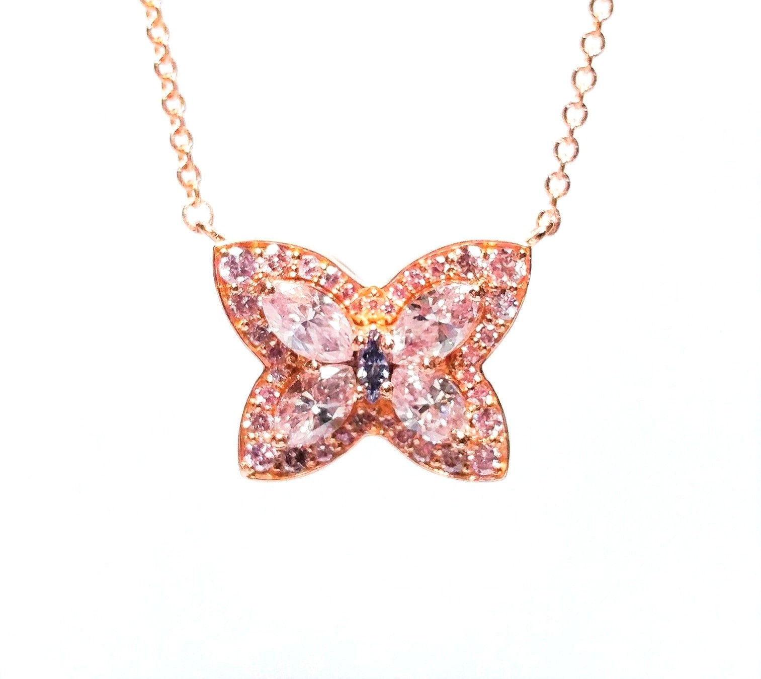pendant product butterfly diamond and kaufmann gold suisse de