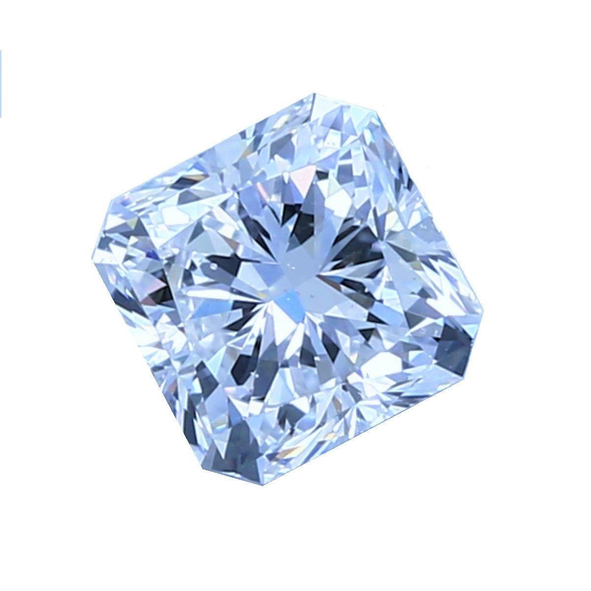 Blue Diamond - 0.35ct Natural Loose Fancy Light Green Blue GIA Cushion SI1
