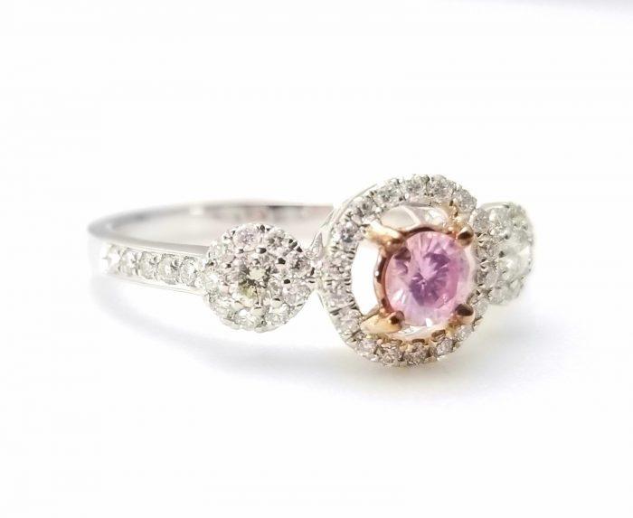 57 12 2 700x573 - 1.03ct Fancy Pink Diamond Engagement Ring GIA Round Hallo 18K White Gold SI1
