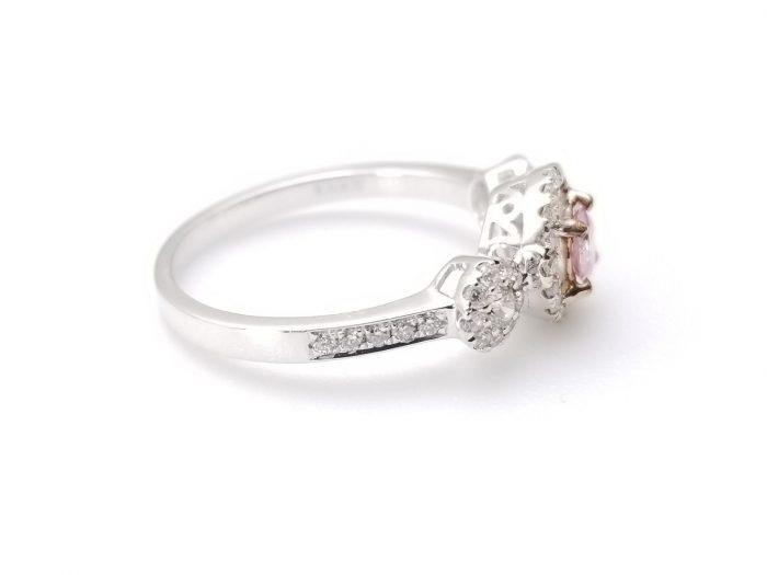 57 12 3 700x525 - 1.03ct Fancy Pink Diamond Engagement Ring GIA Round Hallo 18K White Gold SI1