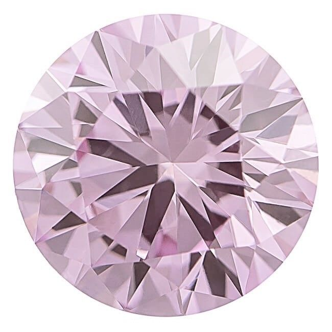 57 15 1 - Pink Diamond – 0.20ct ARGYLE Natural Loose Fancy Light Pink GIA Cert Round SI1