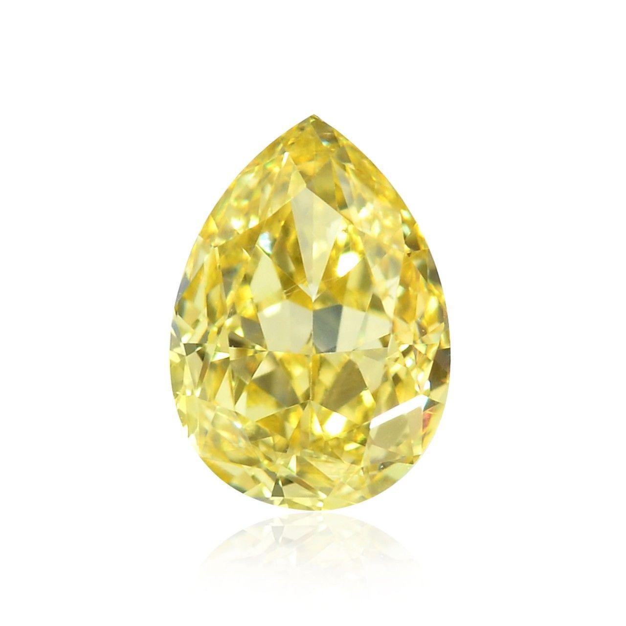 Yellow Diamond - 1.20ct IF Natural Loose Fancy Yellow GIA Flawless Pear Shape