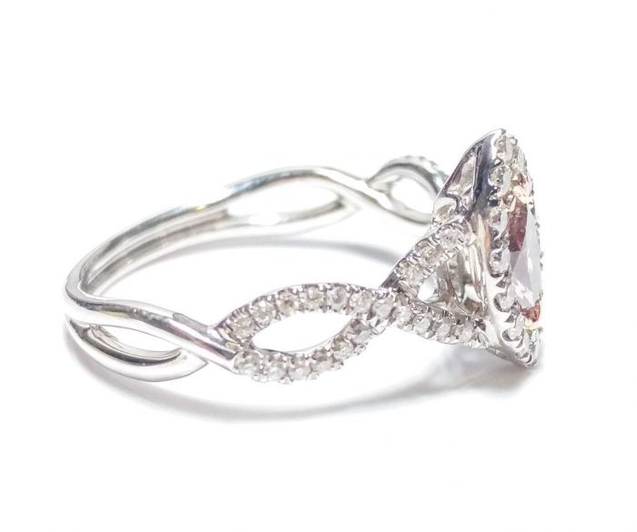 57 2 3 700x585 - 0.86ct Fancy Pink Diamond Engagement Ring GIA Marquise Hallo 18K White Gold Si1