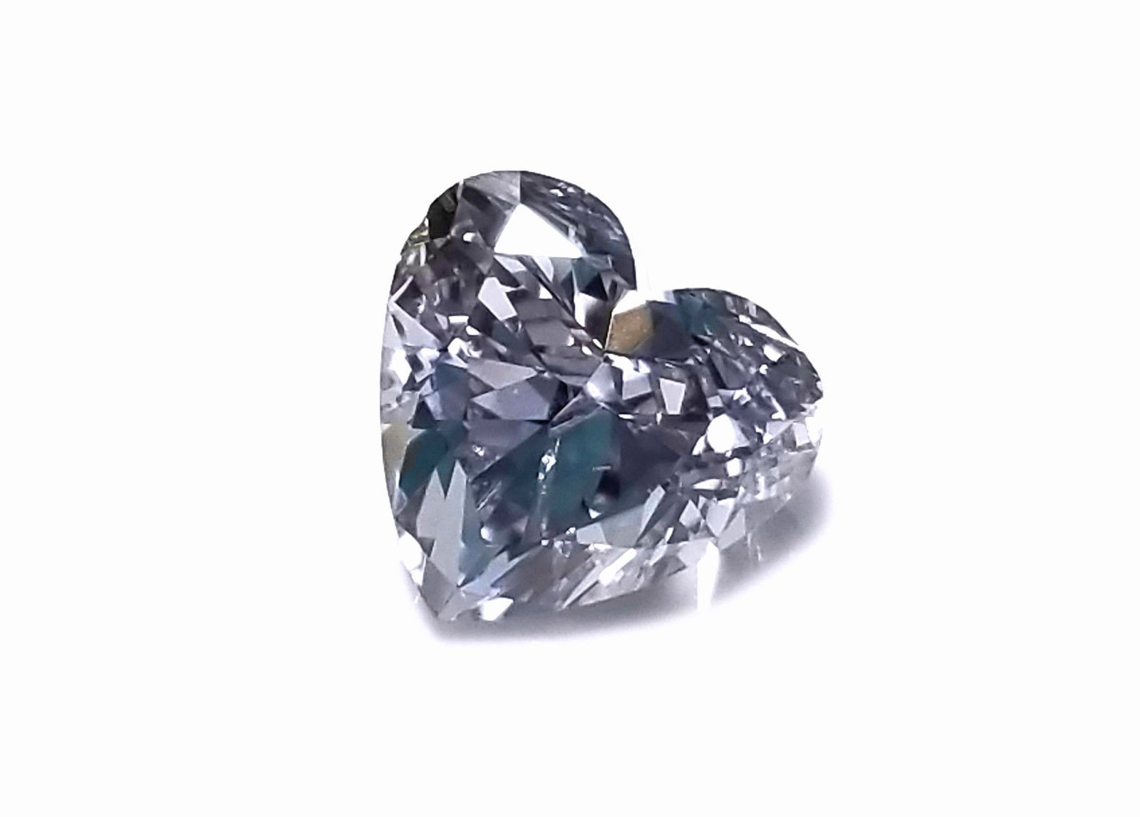 Gray Diamond - 1.00ct Natural Loose Fancy Gray Bluish Color GIA Heart SI2 Real