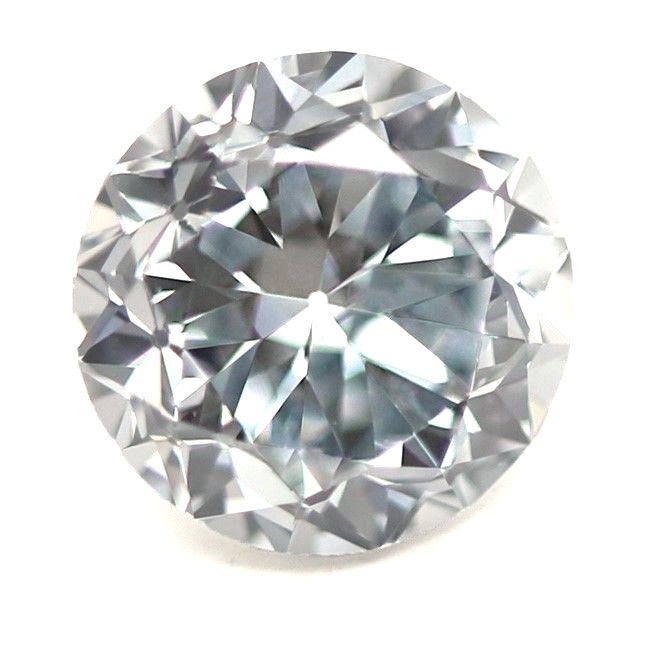 57 5 - Blue Diamond - 0.30ct Natural Loose Light Blue Color GIA Round Shape SI1 Real