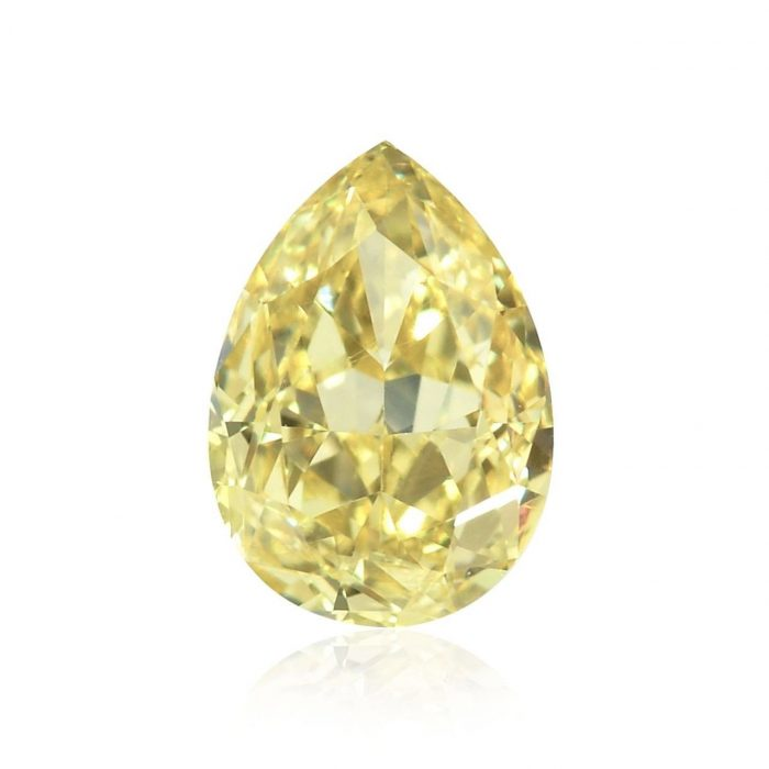 57 11 1 700x700 - IF 1.51ct Natural Loose Fancy Light Yellow Diamond GIA Pear Shape Flawless
