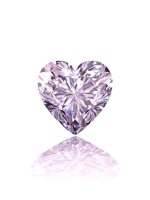 57 12 1 - 0.52ct Pink Diamond - Natural Loose Fancy Faint Pink GIA Certified Heart VS2
