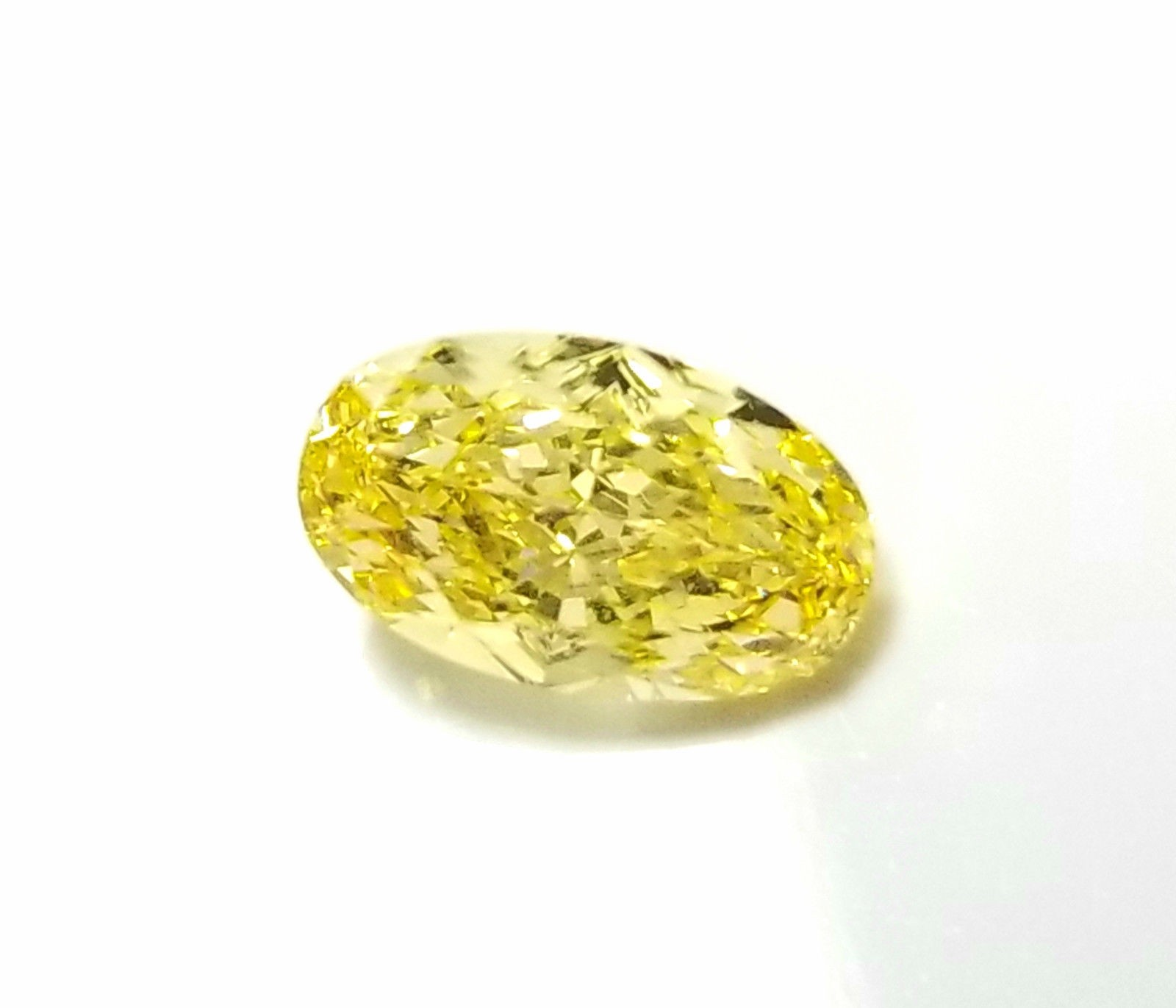 IF 1.09ct Yellow Diamond - Natural Loose Fancy Intense Yellow GIA Flawless Oval