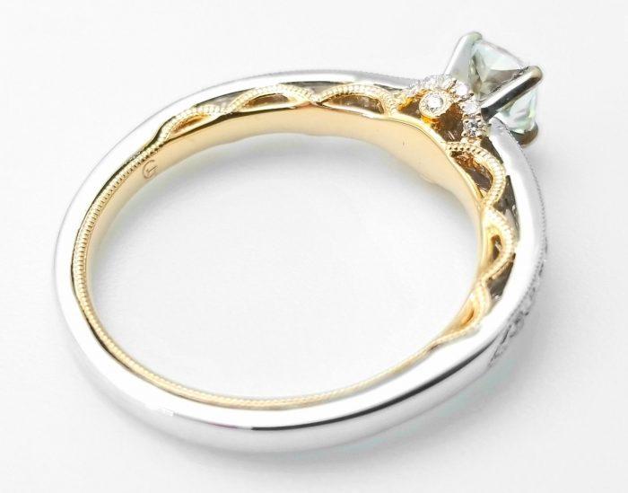 57 2 4 700x549 - 0.67ct Natural Fancy Light Green Diamond Engagement Ring GIA 18K Gold VS2